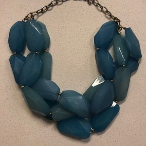 Jewelry - Short Blue Crystal Necklace